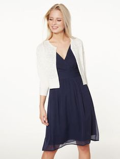 MED 3/4 ERMER CARDIGAN, Snow White