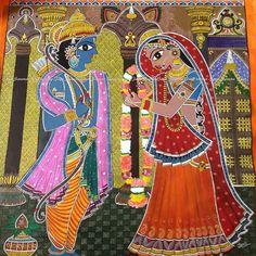 Sita Ram Vivah Madhubani Painting