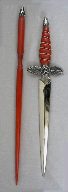 Custom Rose Knife & Wand. Wow! << Dude! Rose!!