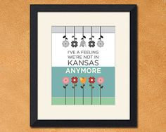 """""""Not in Kansas Anymore"""", Wizard of Oz Inspired Art Print, 8x10 inch by FaithHopeTrick"""