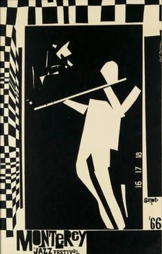 Poster by Earl Newman (1930- ), 1966, Monterey Jazz Festival.