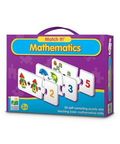 Love this Match It! Mathematics Puzzle Game by The Learning Journey on #zulily! #zulilyfinds