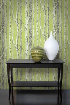 Birch Trees wallpaper from flashbackfabric