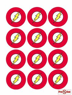 40 The Flash Cupcake Cake Toppers Decorations Edible Wafer Paper Pre Cut | Home, Furniture & DIY, Cookware, Dining & Bar, Baking Accs. & Cake Decorating | eBay!
