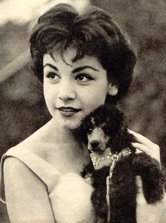 Annette Funicello at 16 in 1959 with her poodle friend what do you remember special about Annette?