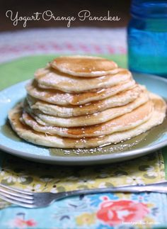 Yogurt Orange Pancakes - These homemade pancakes with a slight surprise is one of our family favorites