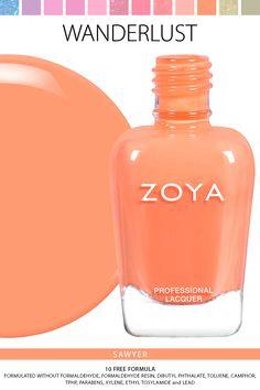 Zoya Wanderlust Lipstick and Nail Polish Collection Zoya Collection, Nail Polish Collection, Long Nail Art, Long Nails, Zoya Nail Polish, Nail Polishes, Mani Pedi, Summer Colors, Skin Treatments