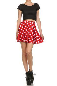 Minnie Mouse Skater Skirt from POPRAGEOUS