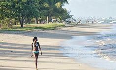A beach on Itaparica island in the Baia de Todos os Santos, Bahia, Brazil. Photograph: Alex Robinson/Getty