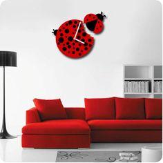Lady bug clock  Cute unique clock by Zoetdh on Etsy, $68.00