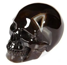 Black Agate Crystal Skull