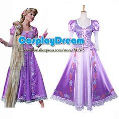 Online Shop Hot Sale! Tangled Rapunzel Princess dress Movie Costume Cosplay custom made fancy dress for christmas|Aliexpress Mobile