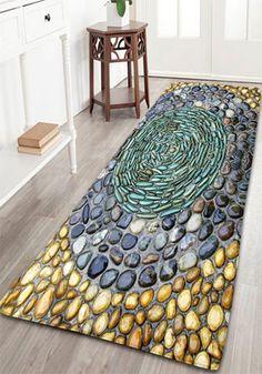 home decor:Flannel Pebbles Print Rug