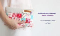 Story Quilt patchwork zipper bag, zipper hand bag, zipper pouch, pattern, sewing pattern, tutorial, patternpile, pattern pile, pile of pattern