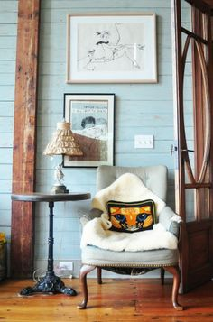 j'adore... i love that soothing wall color and i love everything about that chair