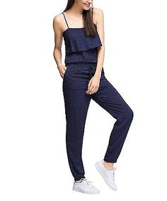 12, Blue - Bleu (Navy), ESPRIT Women's 046ee1l002 - Bedruckt Full Slip NEW