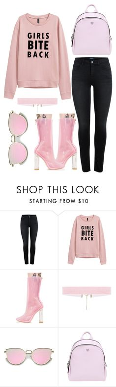 """""""Pale Pink"""" by bokwitmebrunz ❤ liked on Polyvore featuring Cape Robbin, MCM and monochrome"""