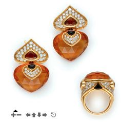 Ring and Earrings  Bulgari, 1980s  Christie's. via OMGthatdress