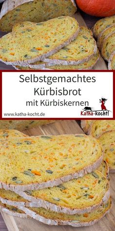 Selbstgemachtes Kürbisbrot This pumpkin bread is a super uncomplicated wheat bread with relati Stir Fry Recipes, Bread Recipes, Cake Recipes, Pumpkin Dessert, Pumpkin Bread, Bread Baking, Baked Chicken, Pain, Easy Dinner Recipes