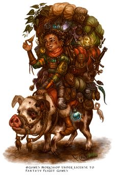 f Female Gnome Merchant Bard Rogue Scavenger on Pig mount for Talisman The Cataclysm by feliciacano on DeviantArt