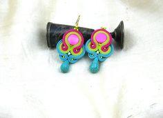 Soutache Earrings  soutache jewelry in by SOUTACHEANDOLDLACE
