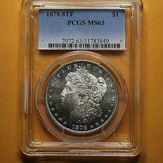 1878 8TF Morgan Silver Dollar PCGS MS63 - SEMI PROOF LIKE - ATTRACTIVE (83849) in Coins & Paper Money, Coins: US, Dollars, Morgan (1878-1921) | eBay