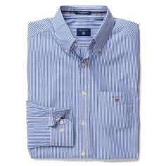 4694798c8ea Gant Banker Long Sleeved Stripe Shirt for Men in Yale Blue