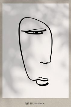 Abstract Line Art, Abstract Faces, Face Line Drawing, Doodle Art Journals, Face Illustration, Mini Canvas Art, Minimalist Art, Modern Wall, Printable Wall Art
