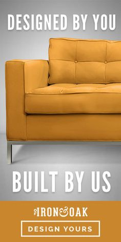 The perfect height for floating in the middle of your living room up against the wall, it just might be the perfect piece for open-concept layouts. Tufting Buttons, Open Concept, Feng Shui, Angles, Punch, Love Seat, Layouts, Flow, Mid Century