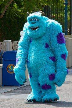 Real Life Sulley - Monsters Inc - Disneyland