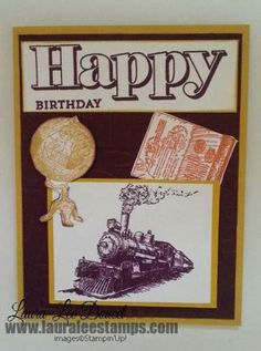 Traveler - New stamp set coming in June from Stampin' Up!  www.lauraleestamps.com