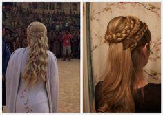 Summer Hairstyles : 'Game of Thrones' Khaleesi-Inspired Braids Box Braids Hairstyles, Braided Crown Hairstyles, Summer Hairstyles, Pretty Hairstyles, Wedding Hairstyles, Viking Hairstyles, Renaissance Hairstyles, Braid Game, Beauty
