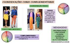 Como Coordenar as cores complementares em um look e a mensagem que essa composição transmite.