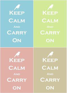 Keep calm and... a bird