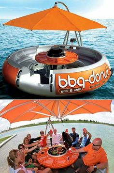 The leisure barbecue floating donut