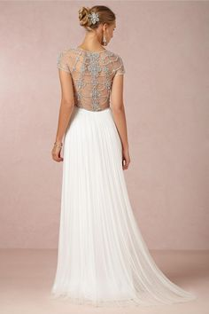 Tallulah Gown from BHLDN. Inspired by Drippy Deco