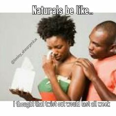 1 day ago Lol. @Leeley_sheargenius serves up some #naturalhairhumor. Laughter is good for the soul. #teamnatural #naturalhair #naturalhairproblems