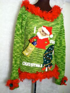 aae3cbc5e7 Ugly Christmas sweater size Medium. by stealofadeal, $39.40 I think this  sweater tops the