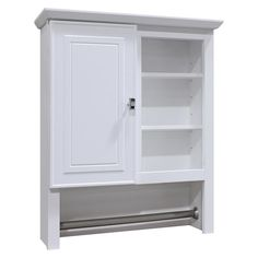 Style Selections Linen Cabinet W x H x D White Particleboard Bathroom wall Cabinet Bathroom Wall Cabinets White, Bathroom Wall Storage, Wall Storage Cabinets, Laundry Room Storage, White Bathroom, Bathroom Flooring, Bathroom Furniture, Modern Bathroom, Small Bathroom
