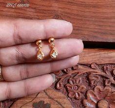 Trendy Jewerly Making Indian Etsy 69 Ideas Gold Jhumka Earrings, Jewelry Design Earrings, Gold Earrings Designs, Small Earrings, Diy Earrings, Earings Gold, Gold Necklace, Gold Designs, Cartier Jewelry
