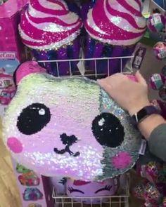 Panda Sequin Pillow : They're baaaaccccckkkkk ✨ panda, unicorn, and ice cream cone MAGIC 🐼🍦🦄 Panda Love, Cute Panda, Panda Bear, Wish List For Teens, Birthday Gifts For Teens, Teen Birthday, Sequin Pillow, Cute Pillows, Lol Dolls
