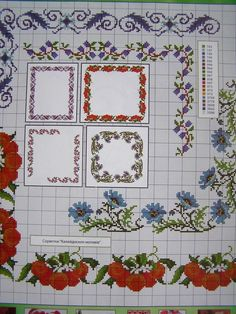Cross stitch Ukrainian Embroidery Flower Patterns for Tablecloth Pillow Napkin 7 in Crafts, Needlecrafts & Yarn, Cross Stitch & Hardanger, Patterns Hardanger Embroidery, Learn Embroidery, Cross Stitch Embroidery, Cross Stitch Patterns, Hand Embroidery Tutorial, Embroidery Flowers Pattern, Flower Patterns, Embroidery Ideas, Cross Stitch Pillow