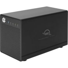 Four-bay drive enclosure with dual Thunderbolt 2 ports, RAID-ready. Add your own drives! 1 Meter certified Thunderbolt cable included. 1 Year OWC Limited Warranty.