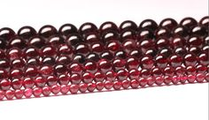 Natural Garnet Natural Stone Beads Garnet Beads by CrystaLandStore