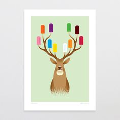 Stag Party - Art Print by Glenn Jones Art - art to make you smile. Available in a range of sizes. Click image to buy online. www.glennjonesart.com