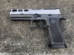 Upgraded my Full-Size SIG Sauer Nitron with a Pro-Cut Slide and TXG Grip Module Sig Sauer, Tactical Gear, Hand Guns, Weapons, Firearms, Weapons Guns, Pistols, Guns, Weapon