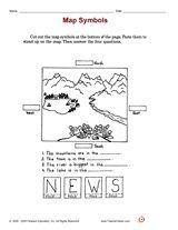 Map Symbols Printable (1st Grade) - FamilyEducation.com