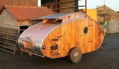 The craftsmanship of this steampunk teardrop trailer is awe-inspiring. What a beautiful piece of functional equipment to travel in style!