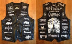 Are you looking for a custom designed battle vest, but don't have access to a high quality print shop? Contact me HERE, and we can discuss possibly working on a unique, custom designed vest, featuring only the bands and patches … Combat Jacket, Battle Jacket, Vest Jacket, Goth Guys, Goth Men, Metal Fashion, Look Fashion, Black Metal, Pride And Glory