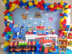 Festa super wings Birthday Party Desserts, Adult Birthday Party, Birthday Party Decorations, 3rd Birthday, Happy 1st Birthdays, Makita, Party Printables, Party Invitations, Food Ideas